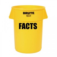 Brute Facts Yellow Garbage Can