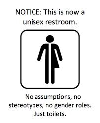 Genderless toilets